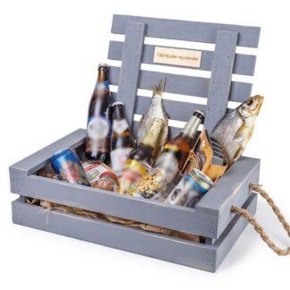 Подарочный набор для начальника, мужской ящик в подарок, мужской подарок эксклюзив, подарок в баню