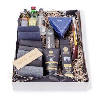 Подарочный набор для мужчины с косметикой по уходу, носки, подарки для мужчин на 23 февраля, купить подарок для мужчины с доставкой по Москве, корпоративные подарки
