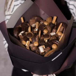 Шоколадный букет, букет из шоколада, Сладкий букет, Шоколадный букет, Съедобный букет, Букет на день рождение, Доставка букетов по Москве, букет на 8 марта
