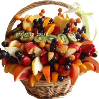 фруктовая корзина, Корзина с фруктами, Фруктовая нарезка, Корзина, фруктовое ассорти, подарок на 8 марта, доставка фруктов по москве, подарки москва, фруктовый фуршет, доставка эксклюзивных корзин, преферито
