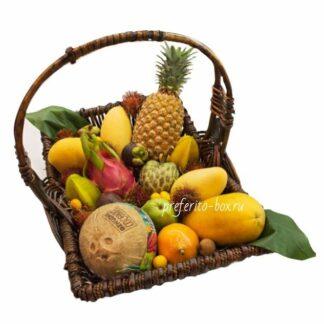 экзотические фрукты, доставка фруктов москва, подарочная корзина, фруктовая корзина, корзина с фруктами, подарок на 8 марта, подарок на новый год, фрукты из тайланда, подарки москва