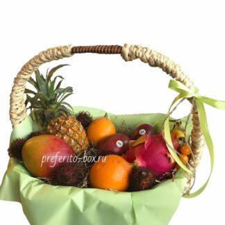 фрукты из тайланда, доставка фруктов, фруктовая корзина, подарки москва, корпоративные подарки, рамбутан, маракуйя, подарочная корзина, корзина из фруктов, доставка корзин, подарок на 8 марта
