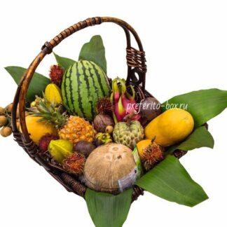 фрукты из Тайланда с доставкой по Москве, подарочная фруктовая корзина на заказ