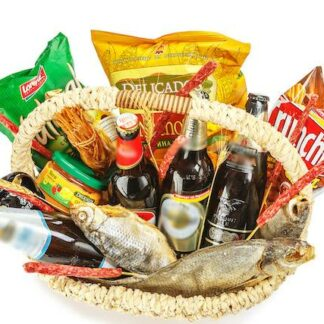 доставка по москве, набор для бани, еда для бани, пивная компания, пивная корзина, корзина с пивом и рыбой, подарок для мужчины, подарок для любителя пива, подарочная корзина, доставка подарков москва, москва подарки, подарок на 23 февраля, подарок для парня, пивной букет, продукты к пиву, рыбка, букет из рыбы