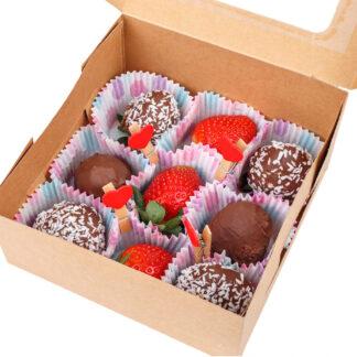 Коробочка с клубникой в шоколаде, Клубника в шоколаде, Подарок на день влюбленных, Подарок на День Святого Валентина, День всех влюбленных, Подарки для любимых