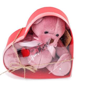 Розовый Мишка, Мишка в подарок, Подарок на День Валентина, 14 февраля подарки, Подарки Москва