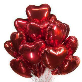 красные сердца, Шарики Сердца, Фольгированное сердце, Воздушные шары, доставка шаров по Москве, Сердце на День Валентина, Шарики на день валентина, Шарики на день влюблённых