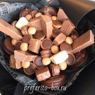 Букет из шоколада, Шоколадный букет, Съедобный букет, Доставка букетов по Москве, Сладости, Букет из батончиков, preferito, букеты москва