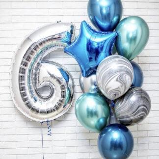 """Связка Из Шаров """"Хром"""", Хромированные воздушные шары с гелием, Воздушные шары Агат, Купить шарики с гелием в Мокве, Доставка воздушных шаров по Москве, Шарики на день рождение купить, Интересные воздушные шары"""