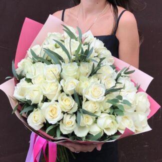 Букет из белых роз, Белые розы, Цветы, Доставка роз по Москве, Купить розы с доставкой, Розы Москва, Букеты из роз купить в Москве, Преферито, Preferito, купить розы дешево