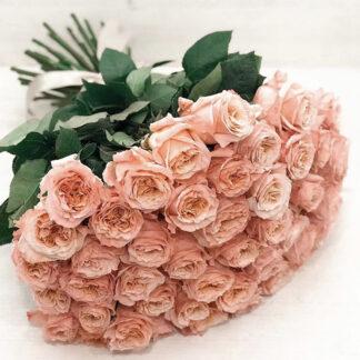 buket-iz-roz-shimmer, Букет из роз Шиммер, Эквадорская роза доставка по Москве, Цветы с доставкой, купить розы недорого