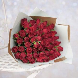 """Букет из роз """"Preferito"""", Красные розы с доставкой по Москве, Купить розы дешево, Цветы москва, Красные розы, Букет на день Святого Валентина, букет для любимой"""