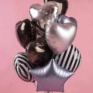 Связка из фольгированных шаров, Шары с гелием, Шарики на день рождения, Купить шары с гелием в Москве с доставкой