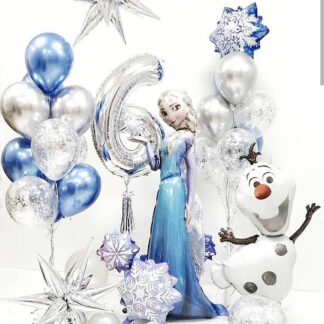 """Связка из воздушных шаров """"Холодное сердце"""", Шарики на день рождения, Воздушные шары Эльза и Анна"""