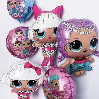Связка из воздушных шаров с гелием Lol, Шарики лол на день рождения, доставка воздушных шаров по Москве