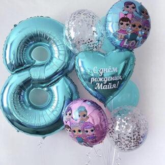 Связка из шаров с гелием Lol, Preferito, Воздушные шары по Москве с доставкой, Купить шары в Москве, Шары Москва
