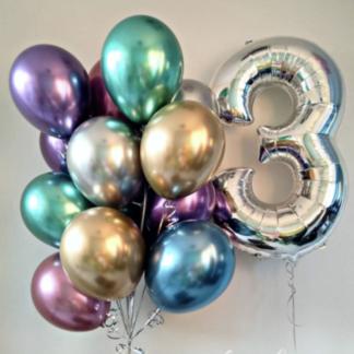 Хромированные воздушные шары с гелием, Доставка шариков по Москве