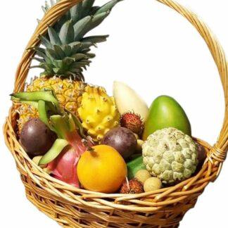 Корзина с экзотическими фруктами из Тайланда, фруктовая корзина