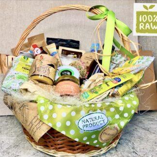 Подарок для вегетарианца, подарочная корзина для вегана, полезная еда, йога, raw еда, vegan food, ЗОЖ, подарочная корзина с продуктами