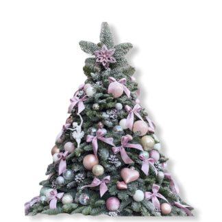 Новогодняя ёлка из живых веточек нобилиса, Нобилис, лапник, живая елка с доставкой по Москве, купить ёлочную композицию, новогодние подарки Москва, Подарок на Новый год купить недорого