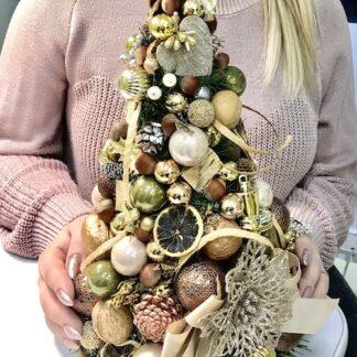 Авторская новогодняя ёлка для интерьера и офиса, Подарки на Новй год, Купить ёлку недорого с доставкой по Москве, Декоративная новогодняя ёлка, оформление офиса на Новый год, купить ёлку украшенную