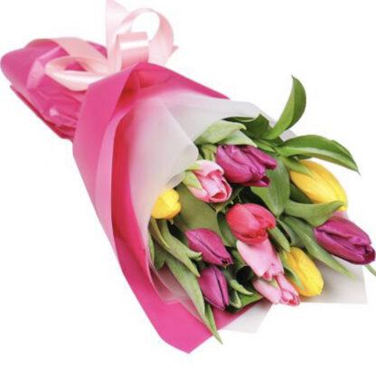 Букет на 8 марта, Букет из тюльпанов, Букеты Москва, Цветы, Цветы к 8 марта, купить букет недорого с доставкой по Москве, Тюльпаны недорого, Корпоративные букеты, купить цветы дёшево, весенний букетик, яркие тюльпаны в подарок