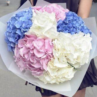 Букет из гортензий, купить букет недорого, цветы, цветы Москва, букет с доставкой по Москве, цветы Москва, Гортензии, Букет к 8 марта, букет из гортензий на день рождения купить с доставкой по Москве, Преферито