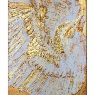 Картина с птицей, Золотая картина, Картина для интерьера, купить картину в Москве недорого, Подарки Москва, Подарки премиум класса, дизайн интерьера, заказать картину с доставкой по Москве, Подарок на юбилей, преферито, барельеф, картина на стену, декор офиса