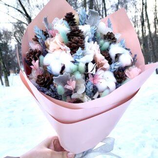Букет из сухоцветов, Лаванда, Сухие цветы, Преферито