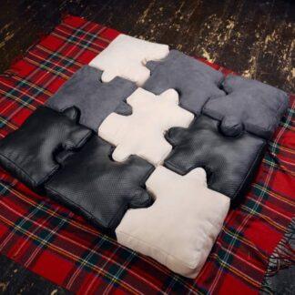 Набор подушек ввиде пазлов для мальчика, серые подушки, подушки для лофта, Подушки пазлы, Набор подушек пазлов, Подарки для мужчин, подарок на 23 февраля