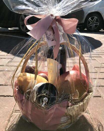 Подарочная корзина с фруктами, фруктовая корзина6 женская подарочная корзина, подарок для женщины, Подарочная корзина с фруктами, тайские фрукты с доставкой