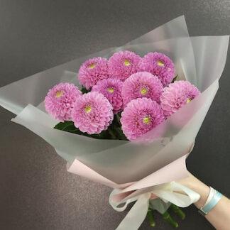 Букет из хризантем, букет для учителя, Заказать цветы недорого, Цветы дёшево, доставка букетов, букет на 1 сентября, букет для школьника