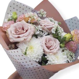 Нежный букет из цветов с доставкой по Москве, Букет в школу, букет для учителя, букет на 8 марта, Букет для девушки, подарок для девушки, купить нежный букет