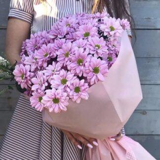 Букет из кустовых хризантем, доставка цветов по Москве, букеты, цветы купить недорого, Хризантемы, Цветы, букет для учителя