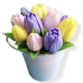 Букет из мыла тюльпаны, мыло ручной работы цветы, Цветы из мыла, Подарок для женщины из мыла, подарки из мыла купить, Доставка букетов из мыла, Купить букет из мыла для учителя, букет из мыла на 8 марта, Корпоративные подарки для женщин