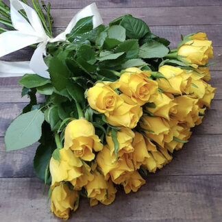 Букет из жёлтых роз, заказать жёлтые розы с доставкой по Москве, Купить розы недорого, Букеты, Цветы, Розы, Преферито