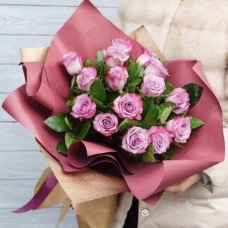 Букет из роз, Купить розы с доставкой по Москве, цветы круглосуточно, Доставка цветов, букет для учителя, букет на 1 сентября