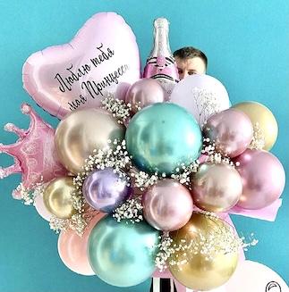 Букет из воздушных шаров, Букет из шариков, заказать букет из шаров, букеты для детей, Оригинальные букеты для детей