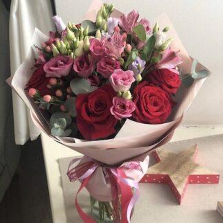 Цветы Москва, Доставка цветов по Москве, Букет для учителя, Букет на 1 сентября, букет на 14 февраля, букет для девушки, Красный букет цветов, цветы недорого