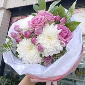 Букет для учителя, букет с доставкой по Москве, Цветы Москва, доставка цветов, букет в школу, Цветы недорого