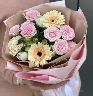 Нежный букет цветов, цветы с доставкой по Москве, Букет на линейку, Букет для девушки, заказать нежный букет недорого, Цветы Москва, Букет круглосуточно