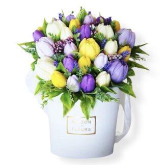 Букет из мыла ручной работы, Тюльпаны из мыла, Подарочный набор из мыла, Преферито, Цветы из мыла