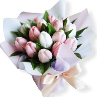 Букет из мыла, Купить подарок из мыла ручной работы, тюльпаны из мыла, Цветы из мыла, преферито, Preferito