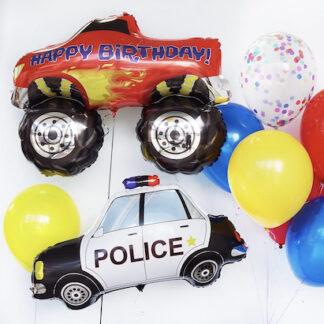Шарики с машинкой для мальчика, Шар машина джип купить, Шар фигура машина Полиция, Воздушные шары для мальчика, Шарики с гелием купить для мальчика, Шары машинки купить, Шарик машинка купить с доставкой