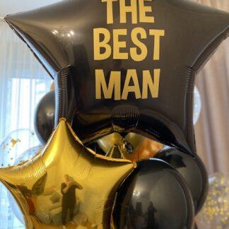 Воздушные шары для мужчины, Шарики для босса, Чёрные и золотые шары для мужчины, Шарики с гелием для парня, шары на день рождения мальчика купить, преферито шары