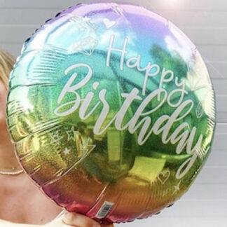 Шар фигура из фольги Happy birthday, доставка шаров на день рождения, шары москва, шарики купить