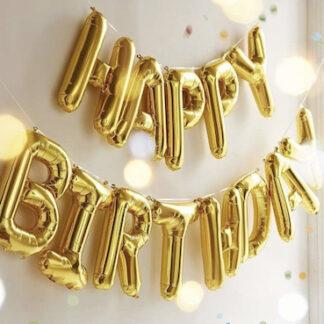 Шар надпись хэппи бёздей, шар фигура надпись из фольги с днём рождения купить, шарик надпись happy birthday