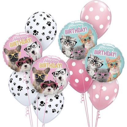 шарики с животными, шарики с котятами и щенятами купить, Шары Москва, Шар из фольги с котёнком, шар из фольки с щенками, шарики с собаками